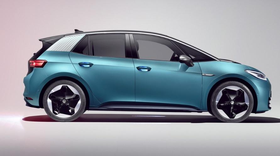 Volkswagen ID3 bleue
